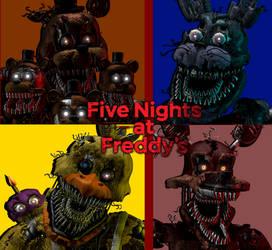 (SFM/FNAF 4) Nightmare Animatronics by AntonioRodriguez1000