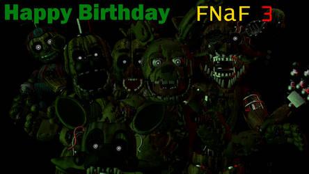 (SFM/FNAF):Happy Anniversary  FNaF 3 by AntonioRodriguez1000