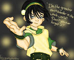 Toph Bei fong from the last airbender