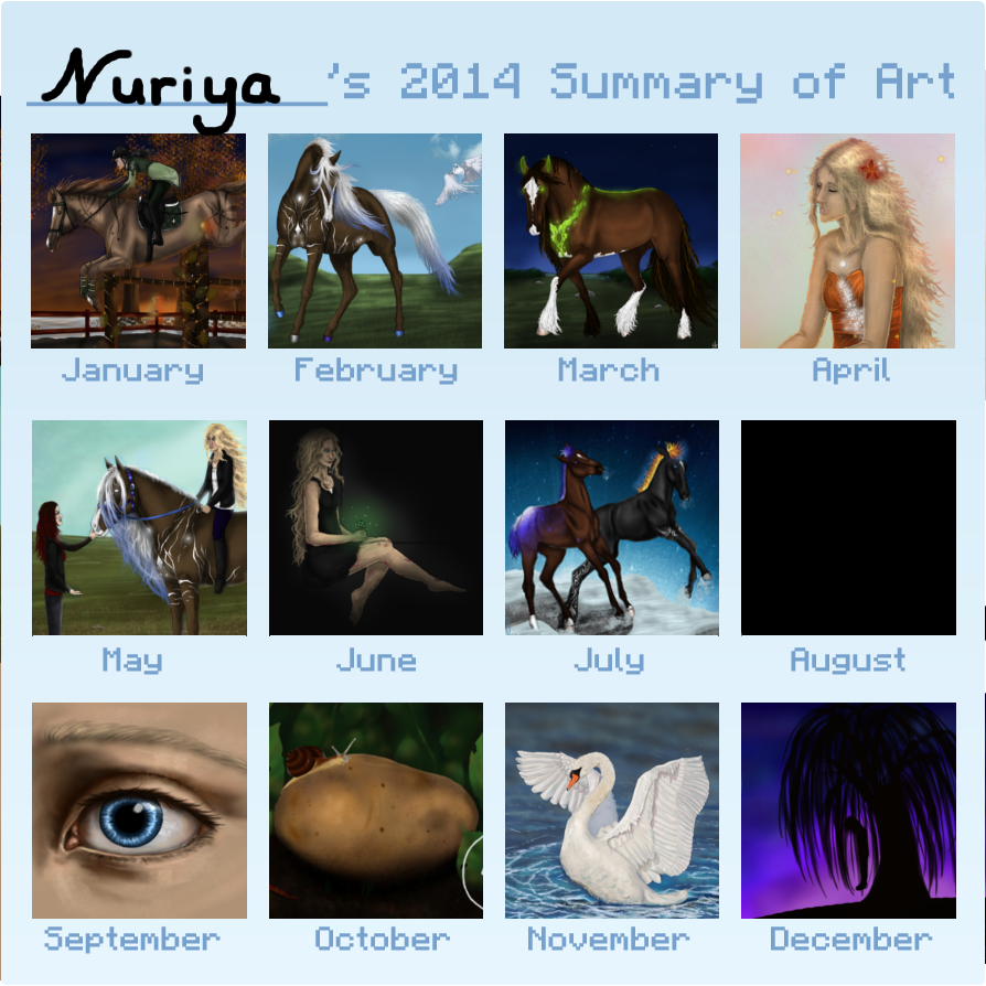 Summary Of Art 2014 by RisingAngelss