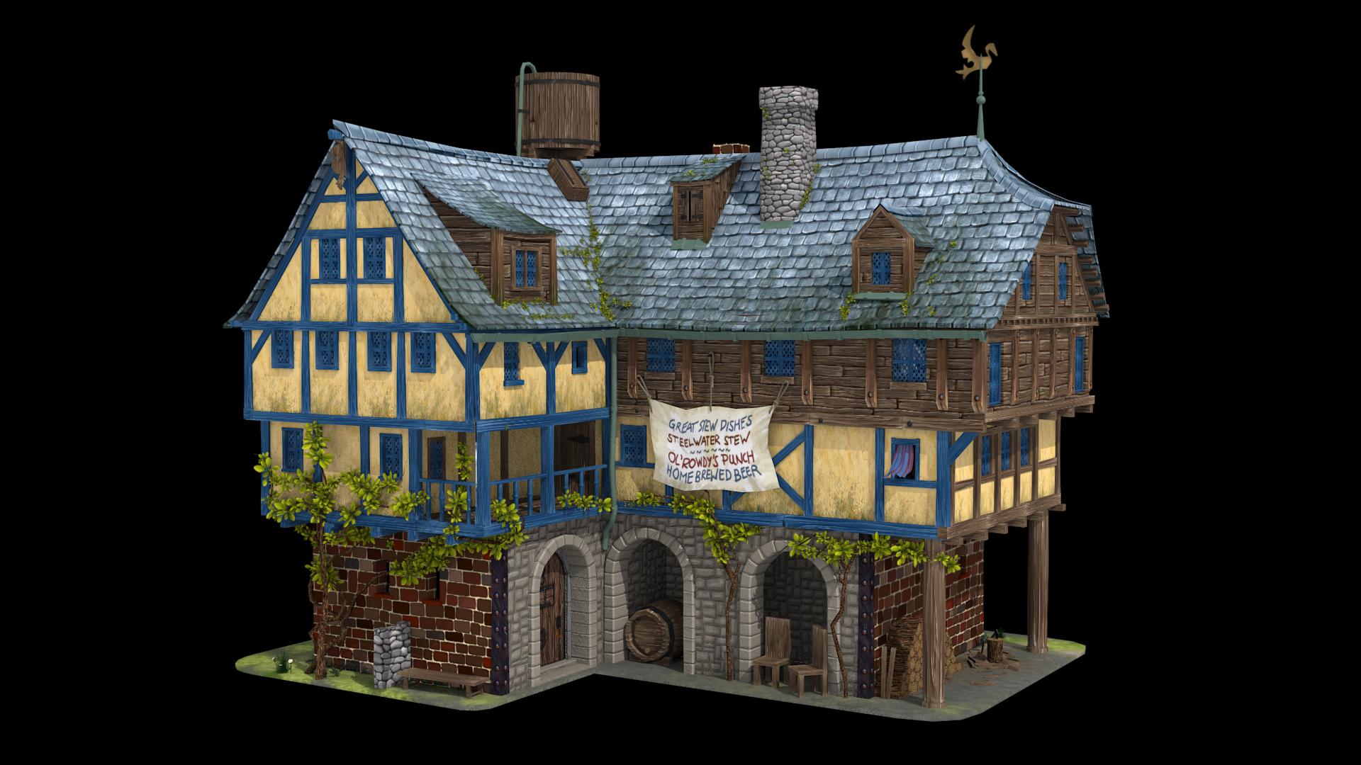 Ol' Rowdys Inn by BoChicoine
