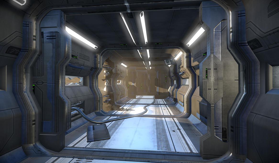 Sci Fi Corridor by BoChicoine
