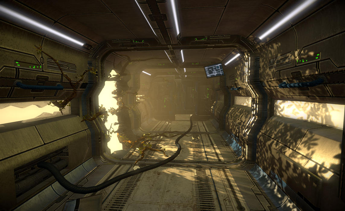 SciFi Corridor 2 by BoChicoine