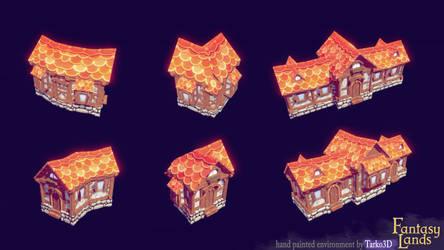 Fantasy Lands - houses showcase by Tarko3d
