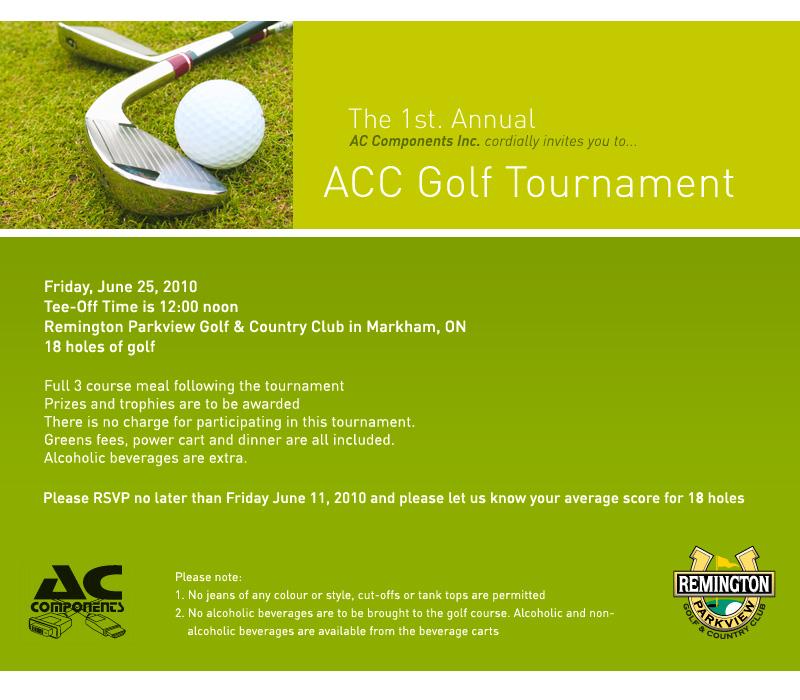 Golf Tournament Invitation   Party Invitations Ideas