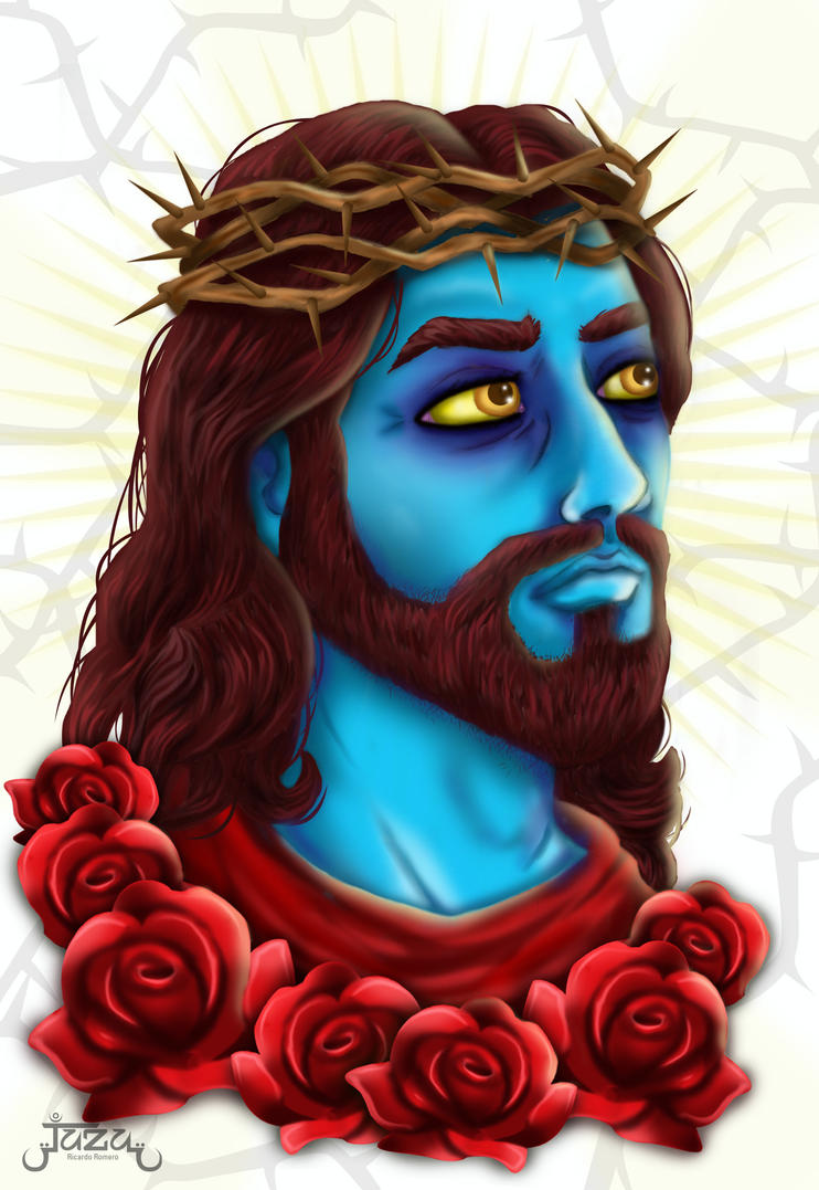 blue jesus wallpaper - photo #21
