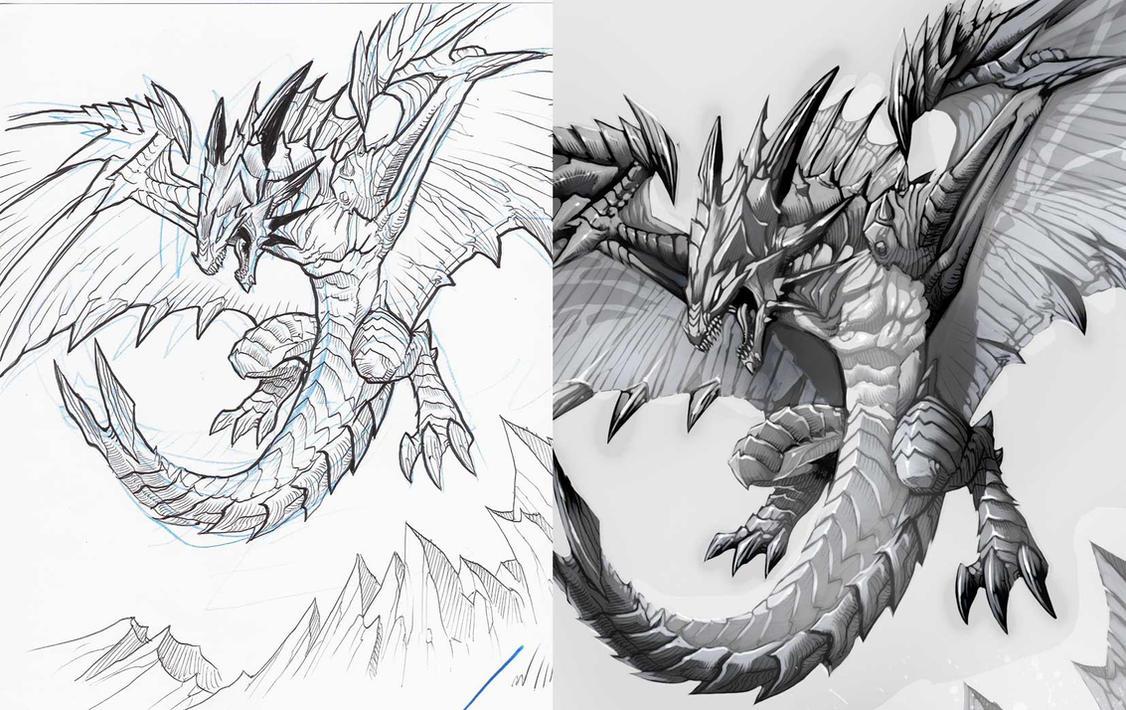Dibujos De Dragones De Fuego A Lapiz Imagui