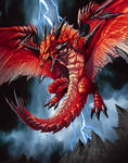 dragon demonio in red