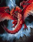 dragon demonio in red