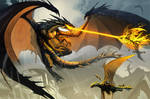 The black dragon attack PRINT
