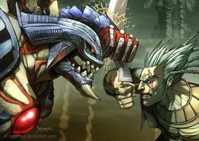 Astaroh and  Algol by el-grimlock
