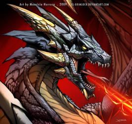 Ash Dragon by el-grimlock