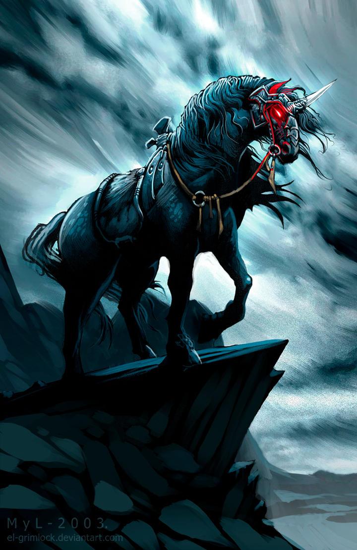 Chiot craintif/peureux - Page 7 Black_unicorn_by_el_grimlock-d3b54rx