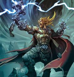 Thor, God of Thunder. by el-grimlock