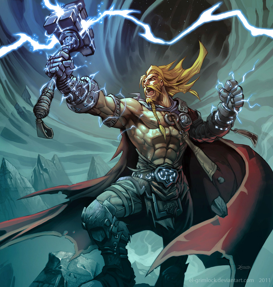 Thor, God of Thunder. by el-grimlock