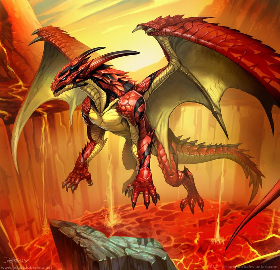 Scarlet Dragon by el-grimlock