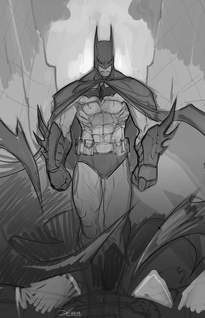 Batman sketch by el-grimlock