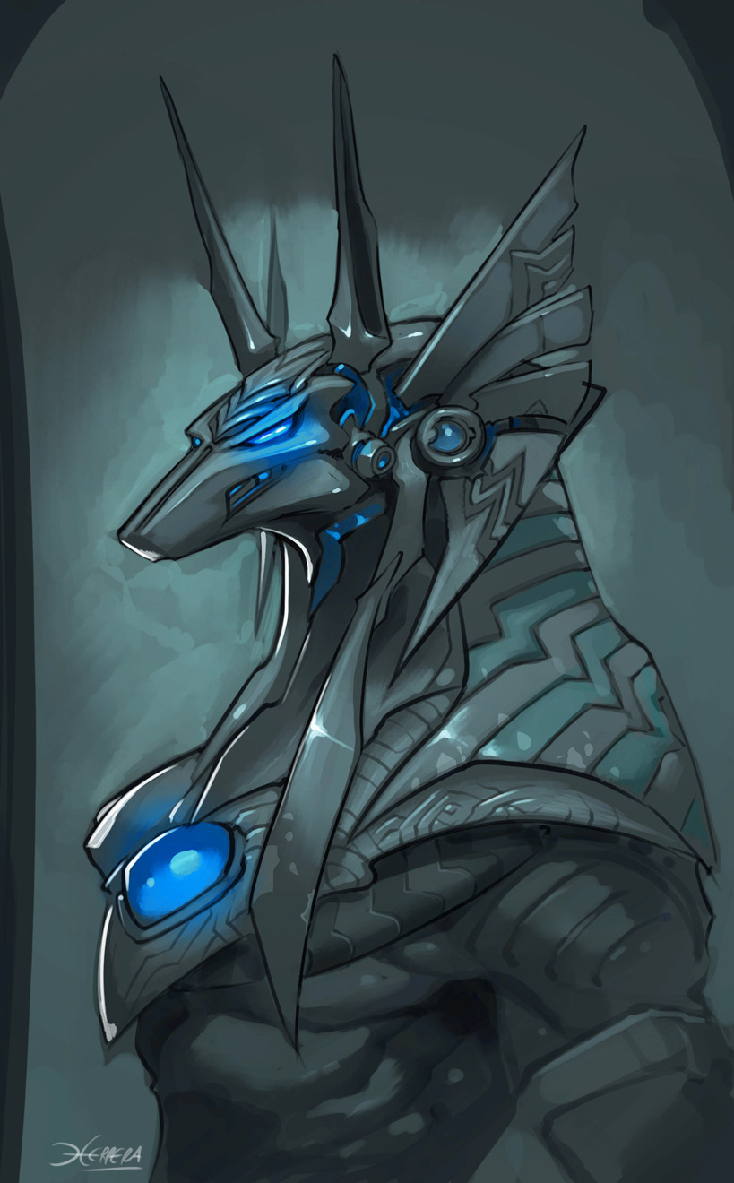 Anubis sketch by el-grimlock