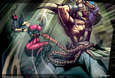 Mitsurugi vs Taki by el-grimlock