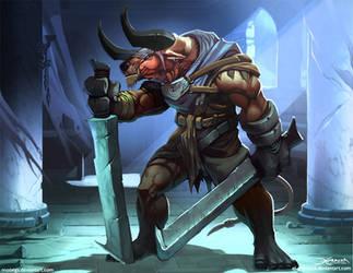 Minotaur Berserker by el-grimlock