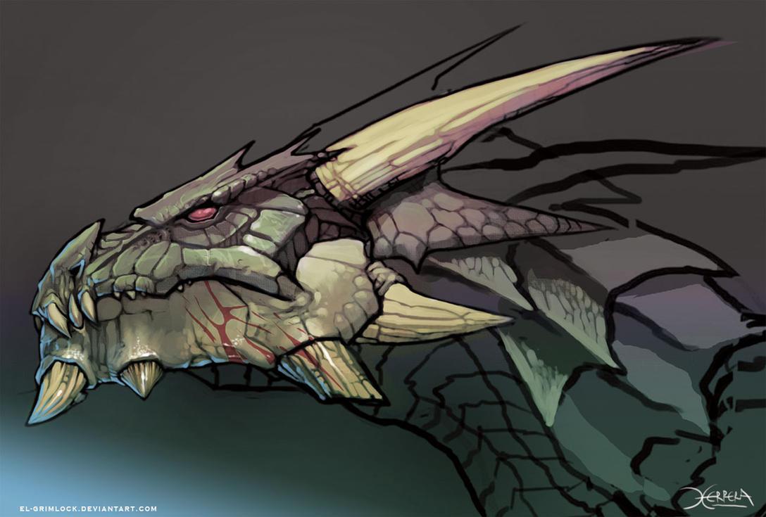 dragon head by el grimlock on deviantart