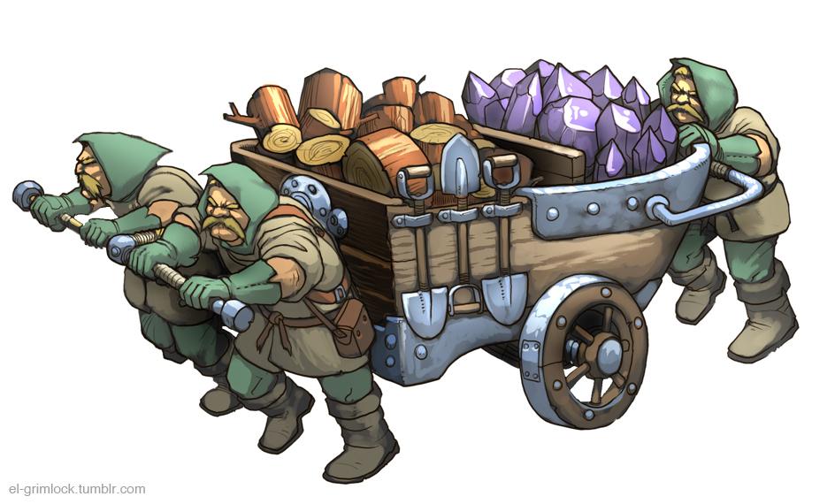 Dwarf, Dwarf and Dwarf. by el-grimlock
