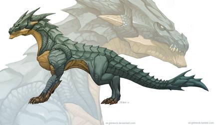 Dragon concept 2 by el-grimlock