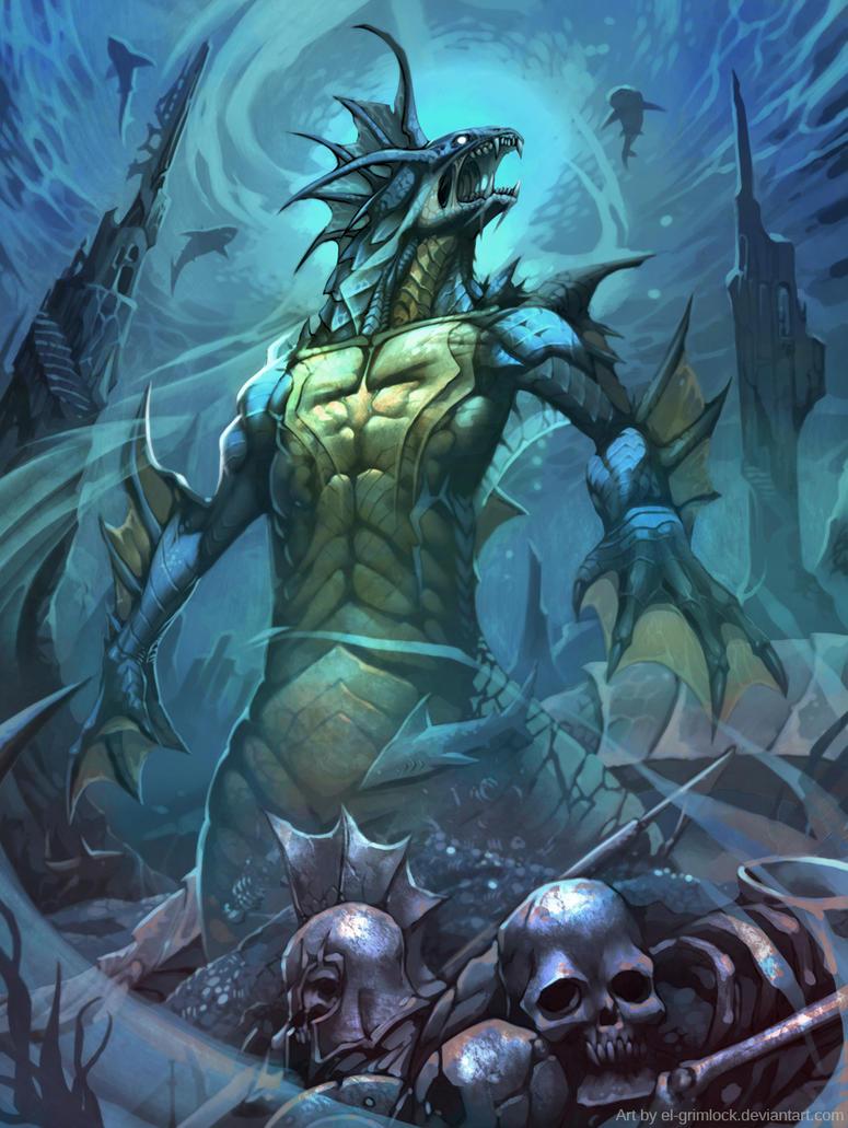 Abyssal monster by el-grimlock