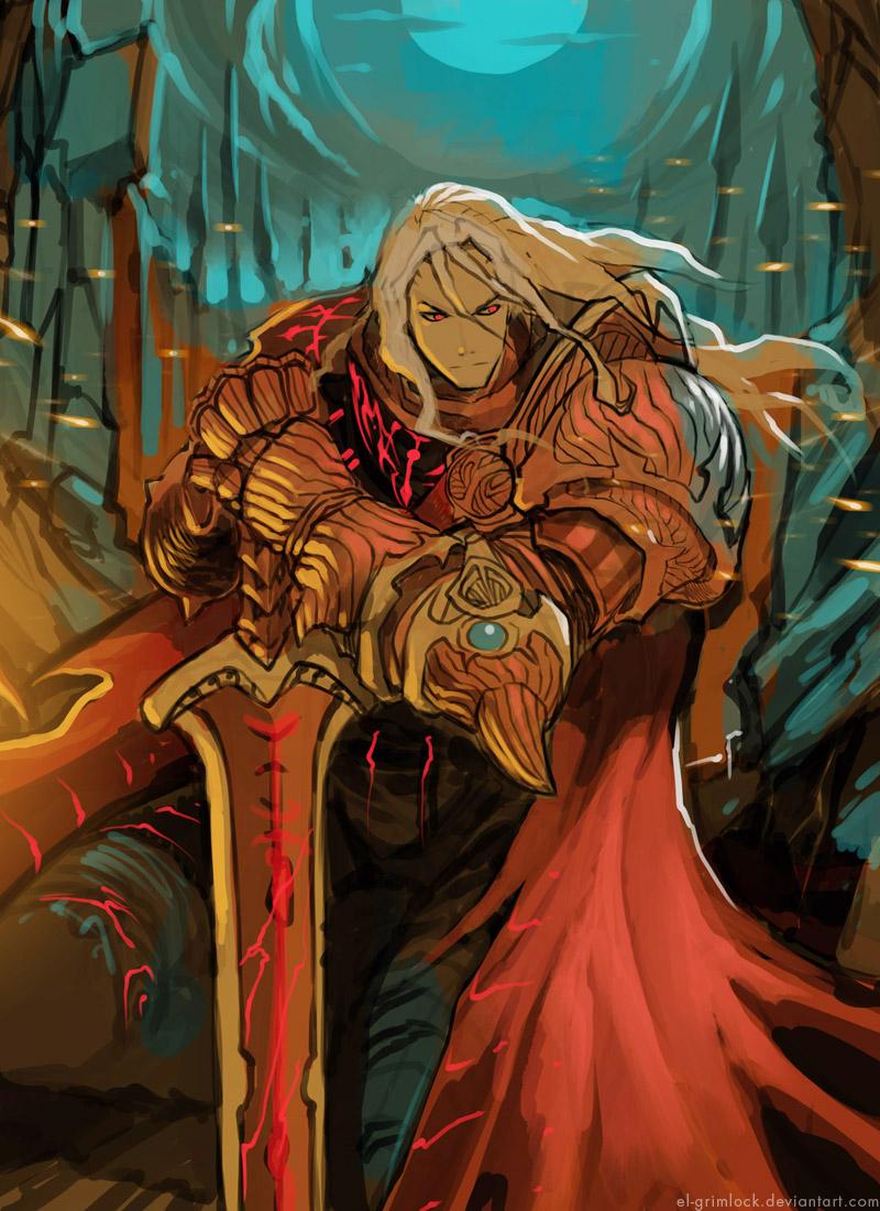 Crimson warrior sketch by el-grimlock