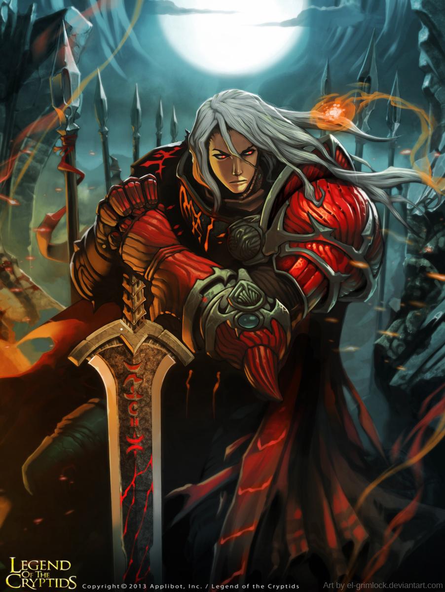 Crimson Striker : Legend of the Cryptid. by el-grimlock