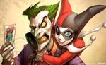 Joker and Harley : Wallpaper. by el-grimlock