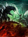 Godzilla vs Quetzalcoatl