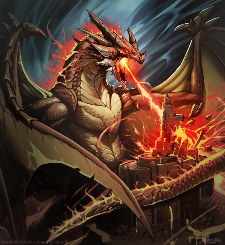 Dragon de Magma 2 by el-grimlock