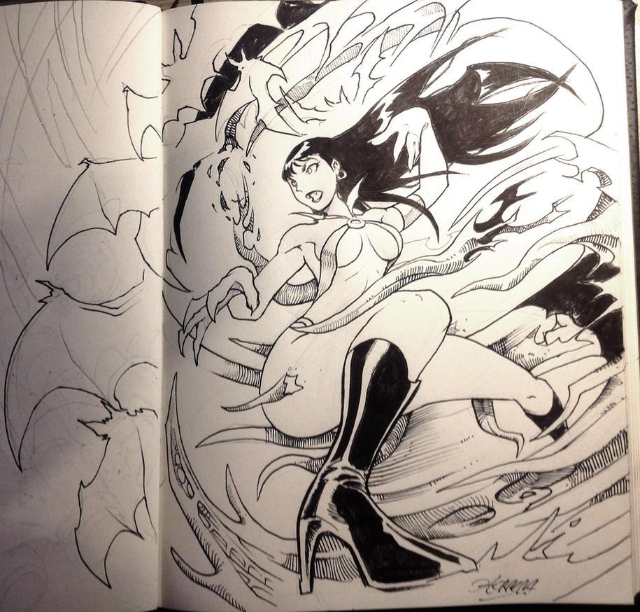 Vampirella - Inktobber by el-grimlock