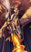 ella y su dragon by el-grimlock