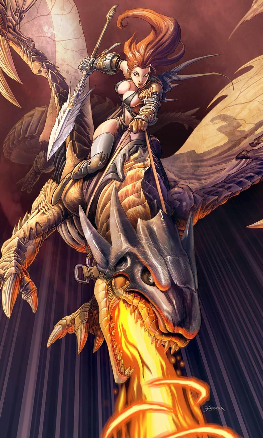 Galeria de Arte: Ficção & Fantasia 1 - Página 2 Ella_y_su_dragon_by_el_grimlock