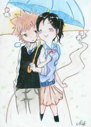 Tsuna and Haru by NikkiKiwwi