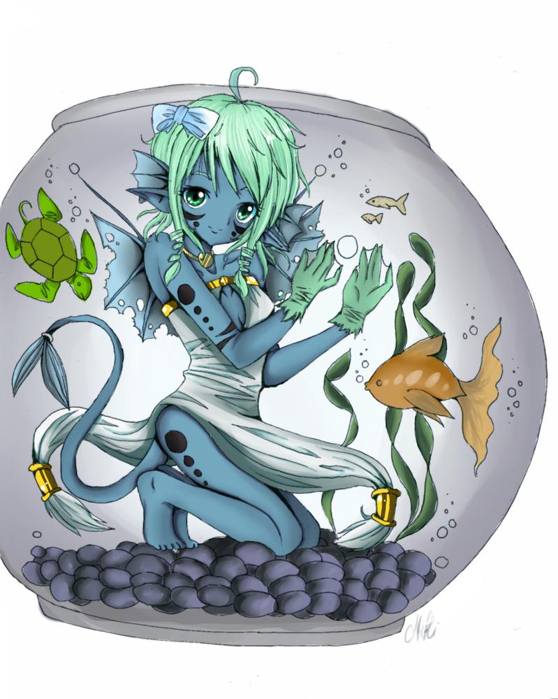 Water Elf by NikkiKiwwi