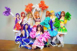 Cheerleaders - LoveLive! Cosplay by mirella91