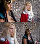 Lady Loki and Lady Thor Cosplay