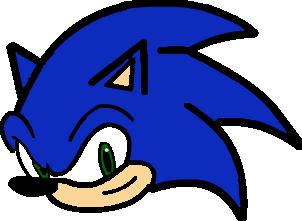 Sonic The Hedgehog Head By Angelfan4life On Deviantart