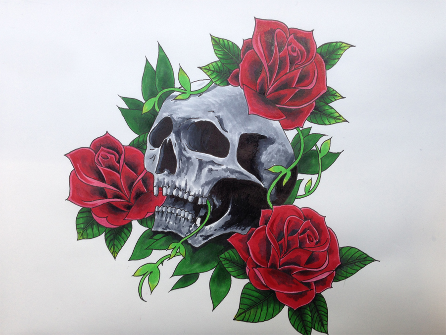Skull and Roses by ZeroElements