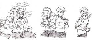 Jim and Bones Doodles by NekoHellAngel