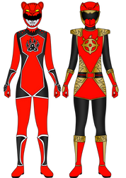 Updated Red Rangers by Iyuuga