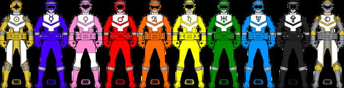 Planet Savior Ranger Keys for RedFalconRanger by Iyuuga