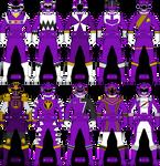 Violet/Purple Ranger/Gokai Keys Part 3 by Iyuuga