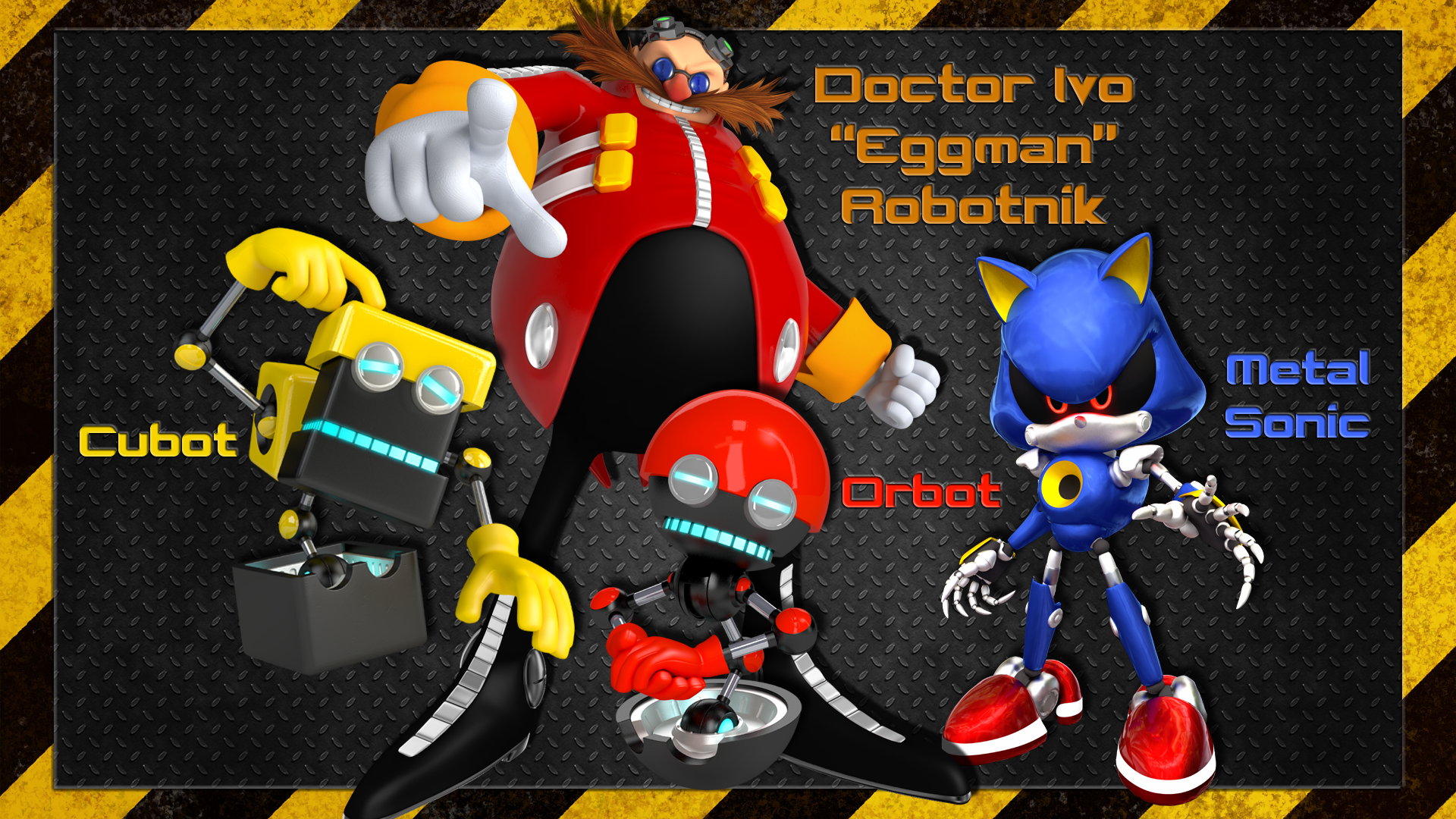 Eggman Orbot Cubot And Metal Sonic Wallpaper By William David