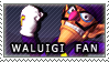 Waluigi Fan Stamp by MxRobotnik