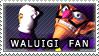 Waluigi Fan Stamp by William-David-Afton