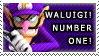 Waluigi Number One Stamp by Makronette